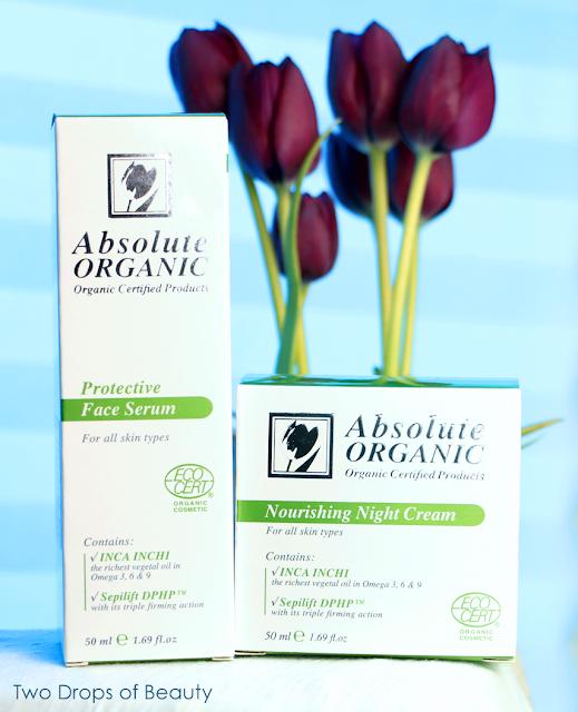 Absolute Organic, сыворотка для лица, ночной крем