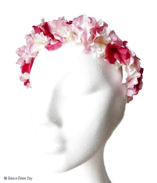 Corona flores cabello · Hair flower crown