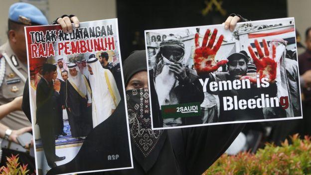 Demo menolak kedatangan Raja Salman di Indonesia