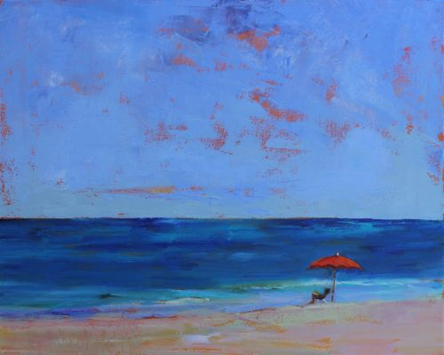 Chillaxin At The Beach Seascape And Paintings By Arizona Artist Amy Whitehouse