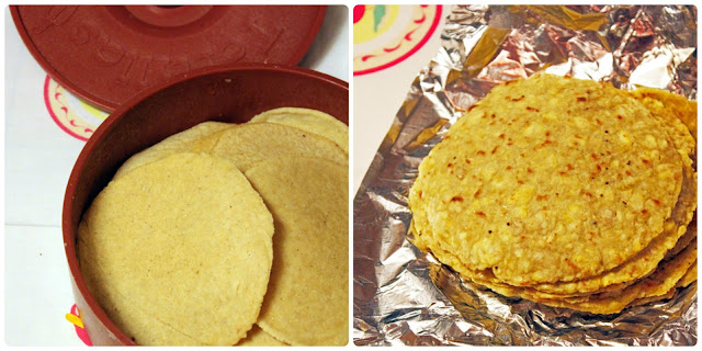 Homemade Corn Tortillas, Plantain Tortillas