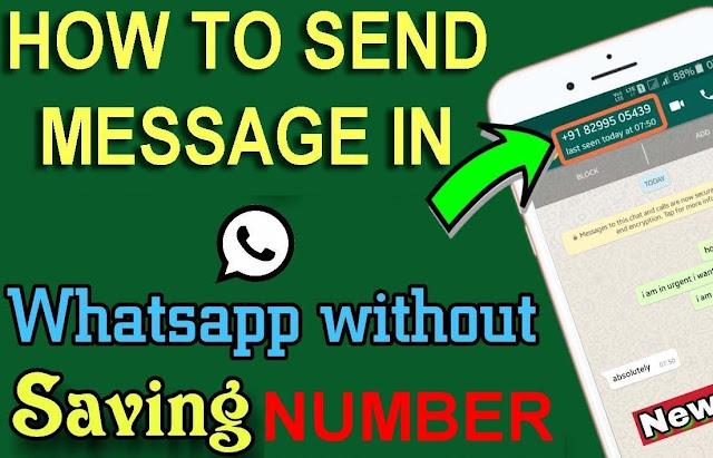 Cara kirim whatsapp ke nomor baru