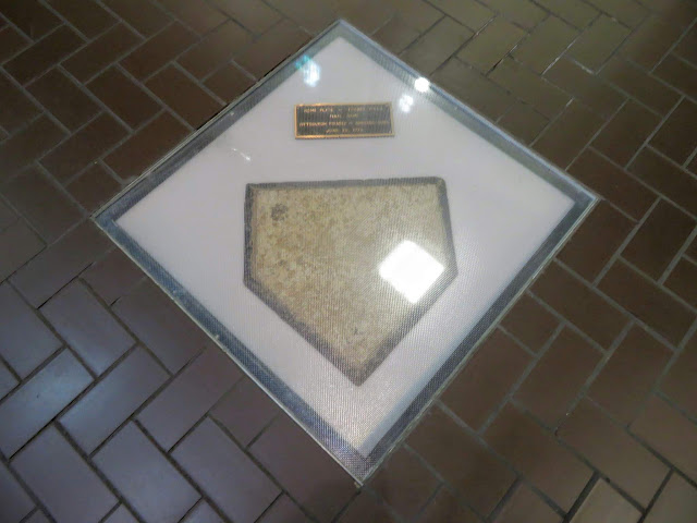 Home Plate from Pittsburgh's Forbes Field, now on the Pitt campus