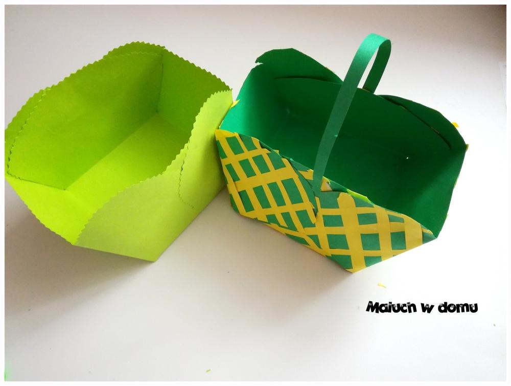 Pudełeczko-koszyczek z tektury