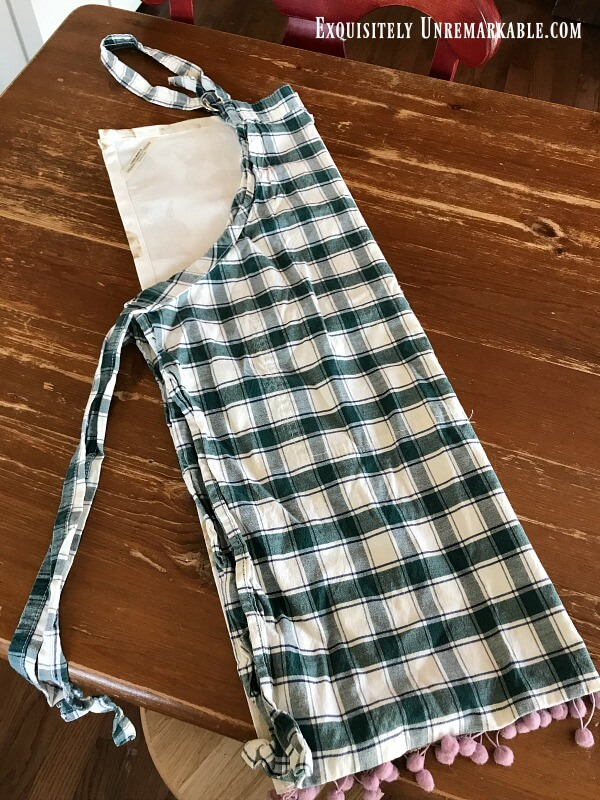 Using An Old Apron As A Pattern For A New One