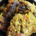 Ilish Macher Matha diye Kochu Shak / Taro Stem cooked with Hilsa fish head: Recipe with Step by Step Pictures