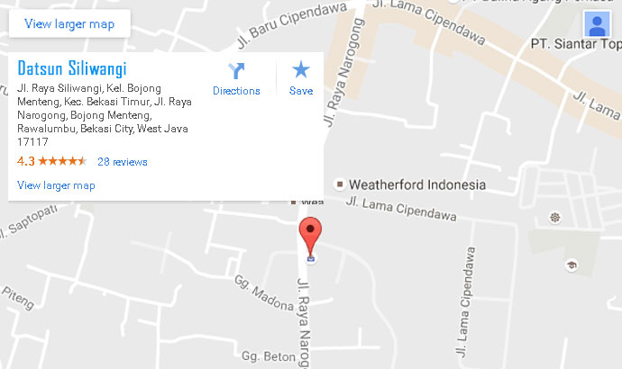 Peta Dealer Resmi - Datsun Siliwangi, Bekasi