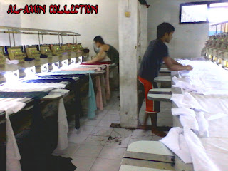 Proses Membuat Baju Koko PAda Mesin Bordir Komputer