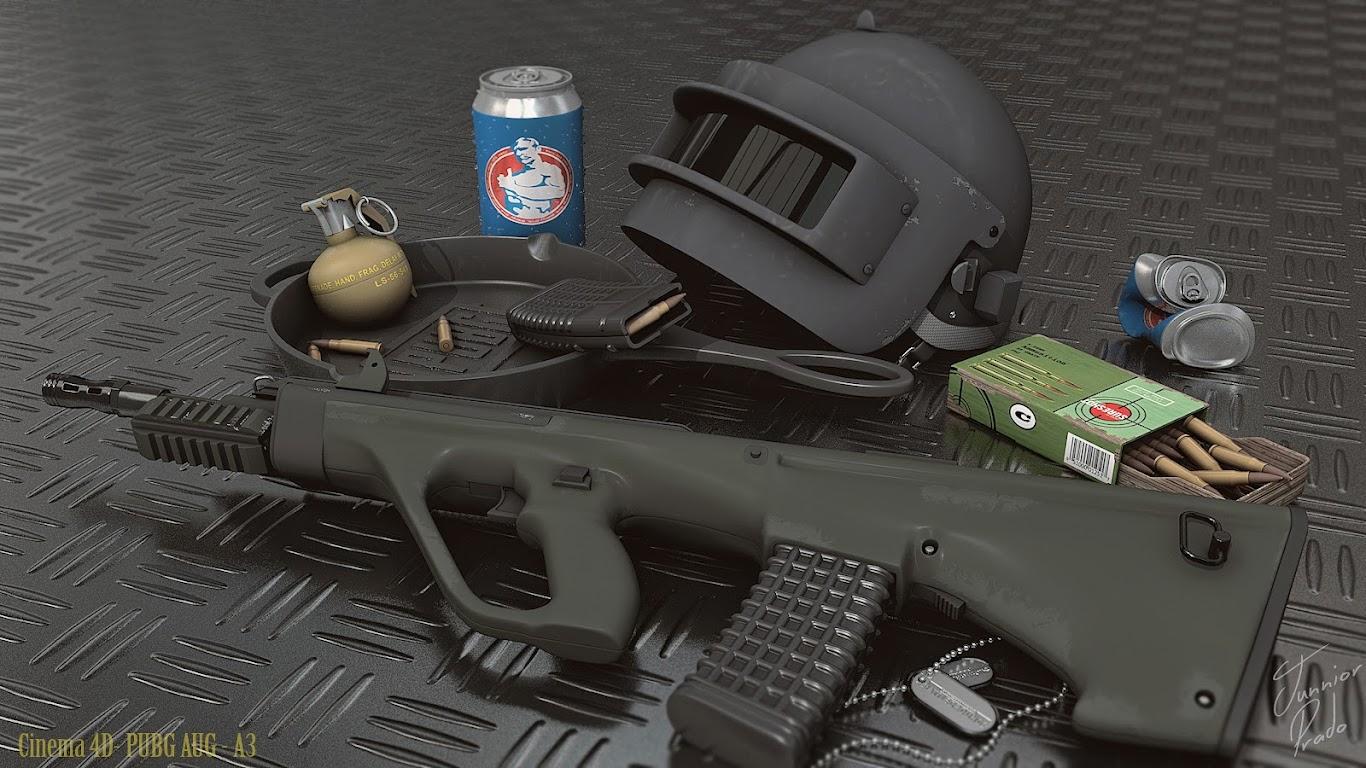 pubg weapons rifle helmet playerunknowns battlegrounds uhdpaper.com 4K 43