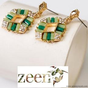 Kate Middleton wore ZEEN Dazzling Ceramic Drops Earings