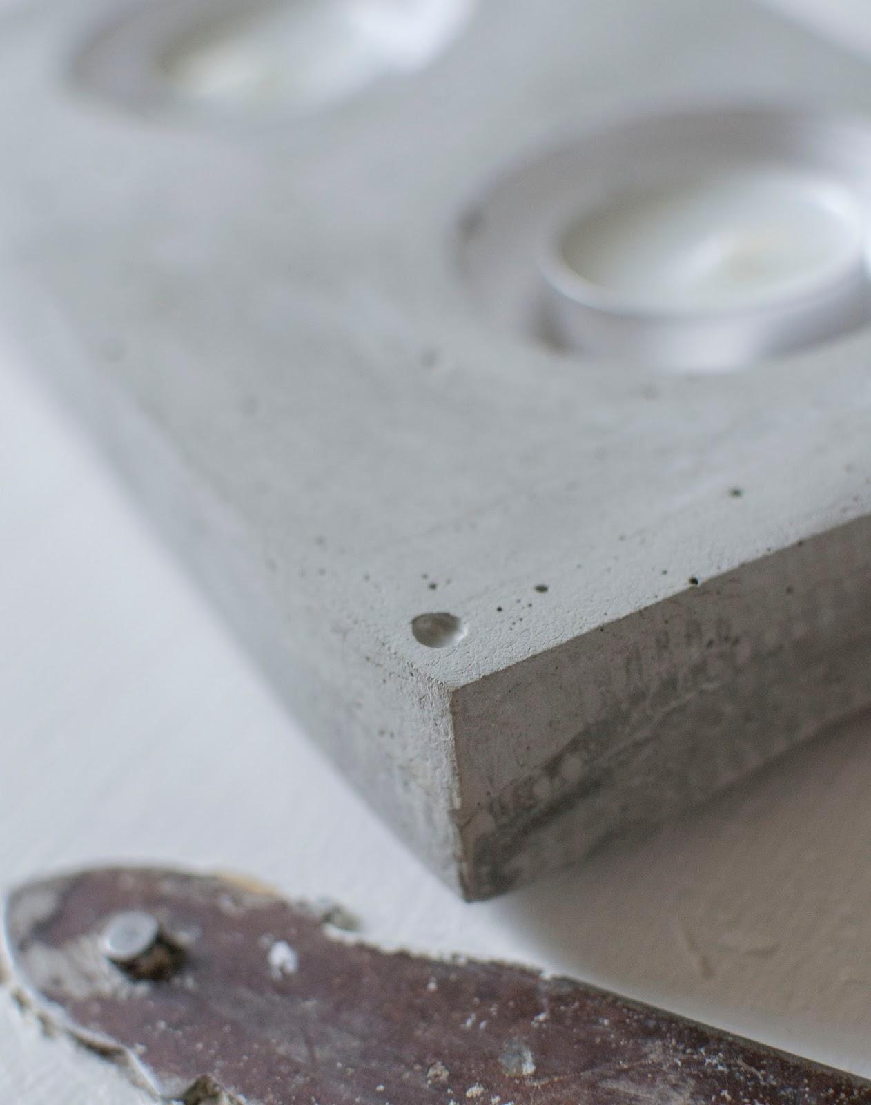 gjuta med cement