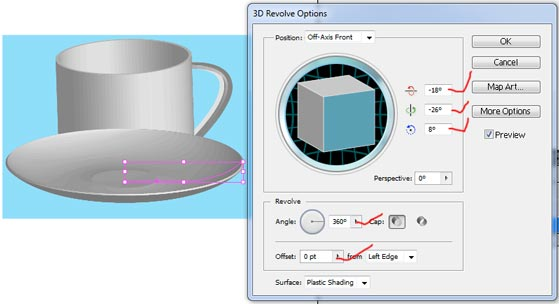 how to reset create shape tool on flexi