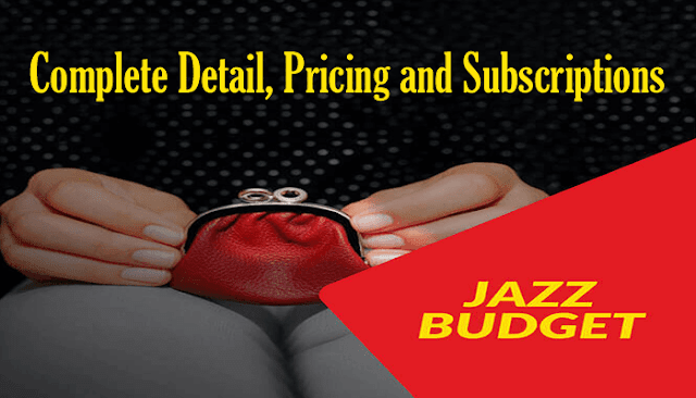 Jazz Budget | Mobilink Jazz Prepaid Packages