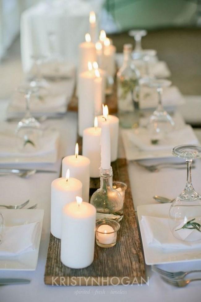 centros de mesa alargados para boda