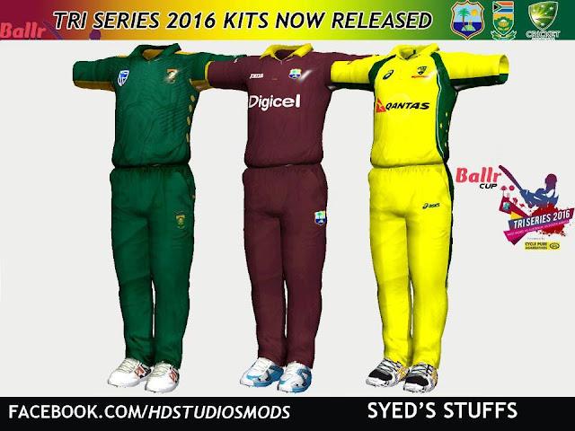 HD Studioz Ballr Cup Tri Series 2016 Kits For Cricket 07