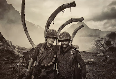 Shea Whigham and Jason Mitchell in Kong: Skull Island (27)