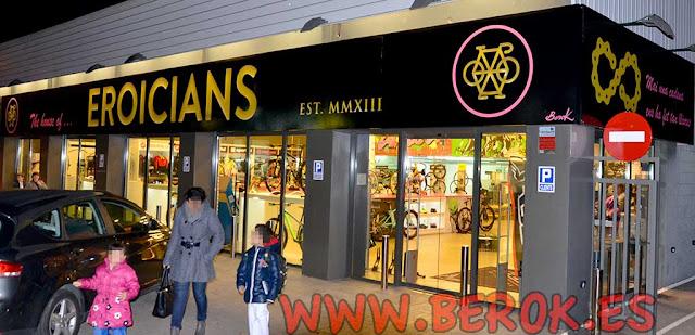 Rotulación de tienda de bicicletas