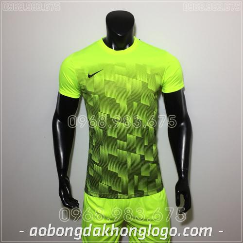 Áo bóng đá không logo Nike HHP David màu xanh chuối