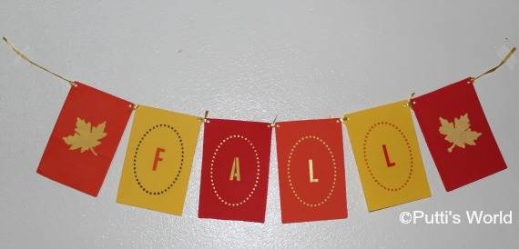 DIY Reversible Fall Banner Bunting