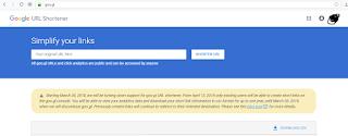 Google Akan Hentikan Goo.gl