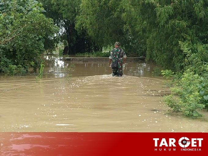 Curah Hujan Yang Tinggi Berdapak Beberapa Desa Terancam Banjir di Kecamatan Gabus