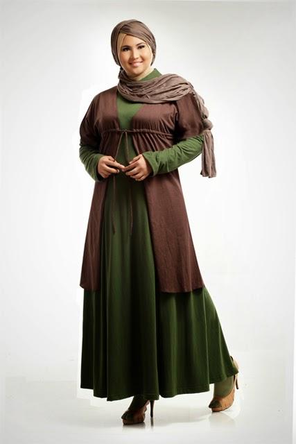 contoh model busana muslim untuk orang gemuk