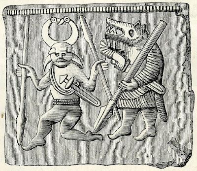 1872 Woodcut Image of Berserkers
