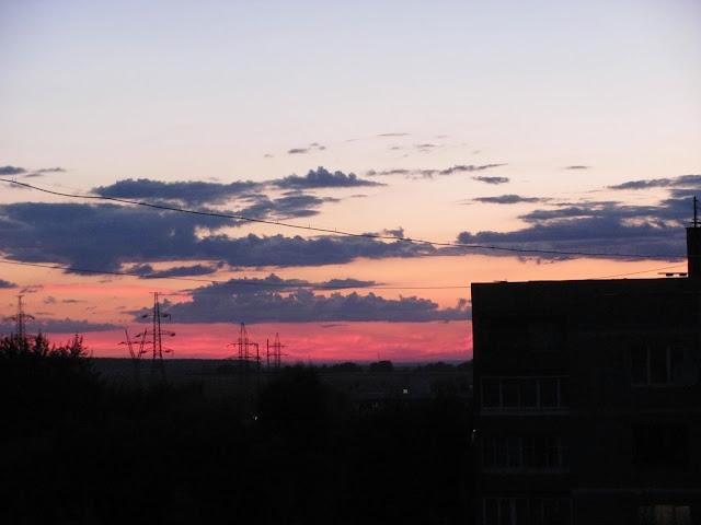 Новлянский квартал в Воскресенске - вид из окна вечером