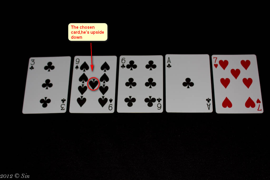 house of cards easy card tricks  upside down trick
