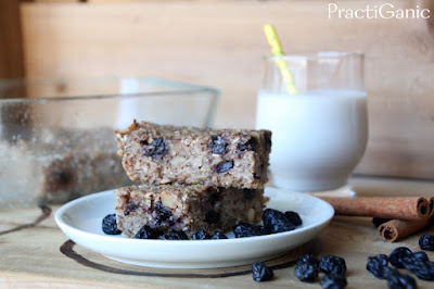 Blueberry and Quinoa Cinnamon Toast Breakfast Bars