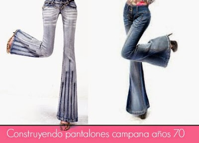 Como hacer Pantalones Campana.Regresamos a los 70