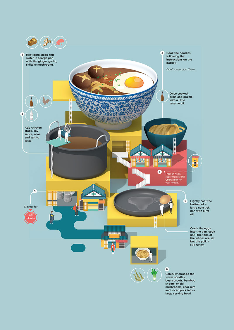 Recipe Card Illustrations by Jing Zhang