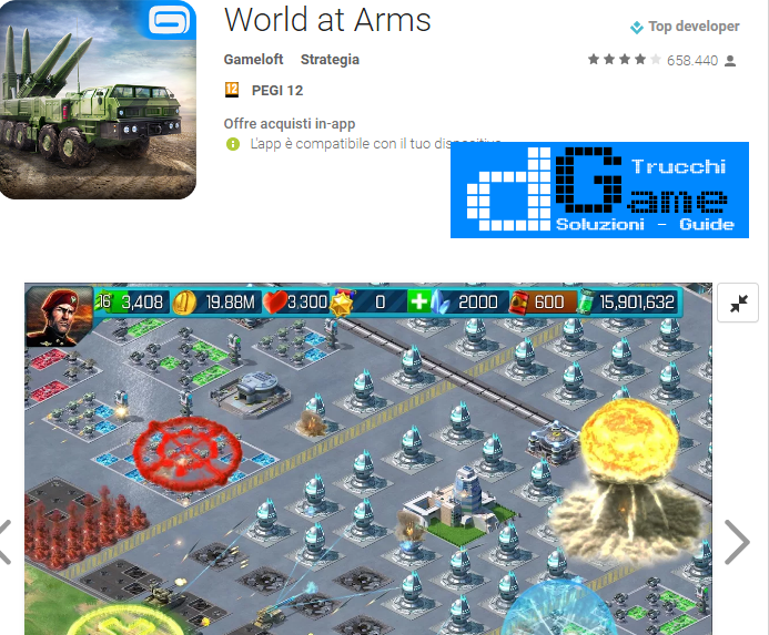 Trucchi World at Arms Mod Apk Android v3.2.1b