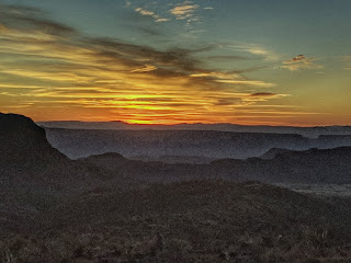 Sunset from the Sotol Vista Overlook