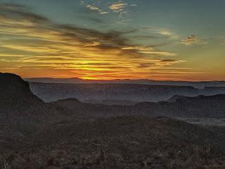 Sunset from the Sotol Vista Overlook