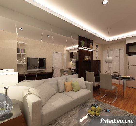 Desain Interior Apartemen Pakubuwono - The Valley Interior Design