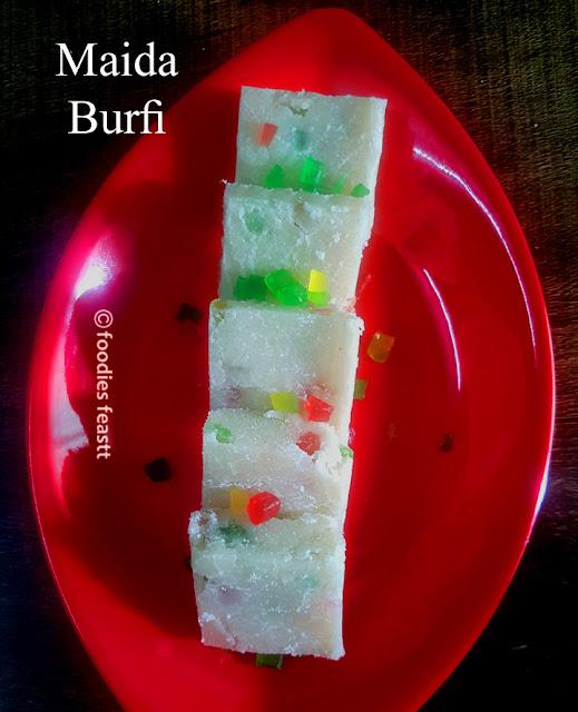 Maida Burfi Recipe