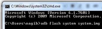 adb flash system system
