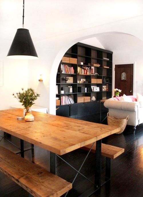 dining room picnic table   Chicdeco Blog   10 bellos comedores con mesas de picnic10 ...