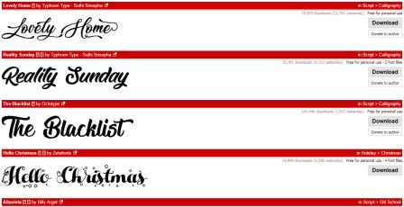 100 Jenis Font Bagus dan Terbaik untuk Desain Grafis Banner dan Undangan