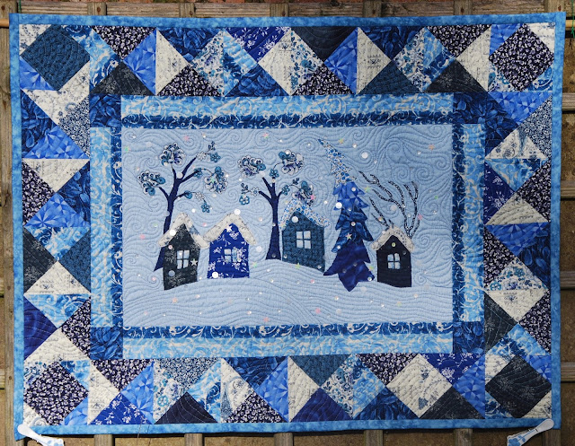 winter landscape quilt