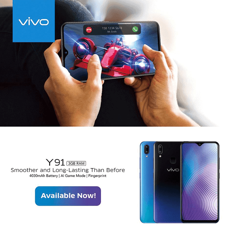 Vivo Y91 with SD439 launched in the Philippines with an affordable price tag