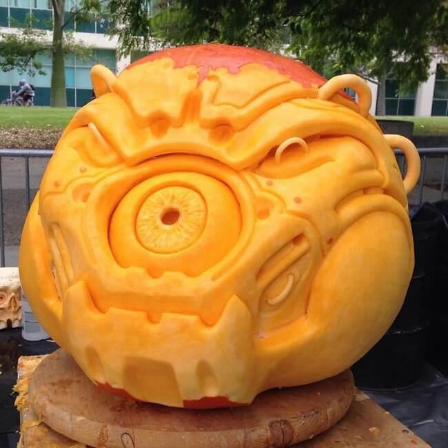 Esculturas em abóboras gigantes