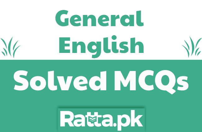 General English MCQs with Answers for NTS pdf free download
