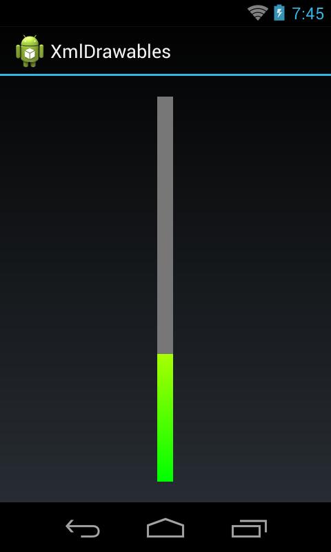 Progressbar in android xml viewer