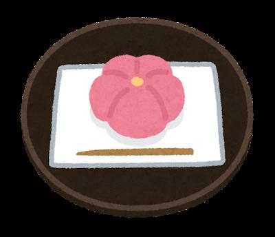 茶菓子のイラスト