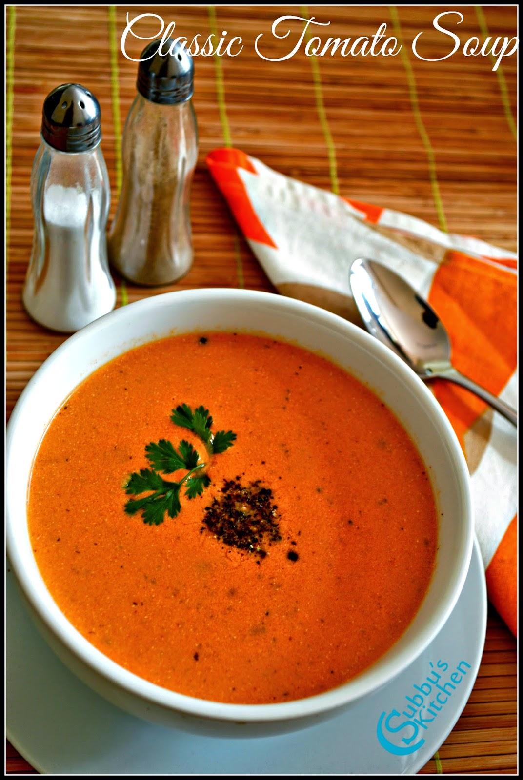 Tomato Soup Recipe | Classic Tomato Soup Recipe