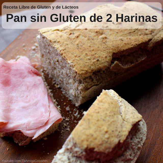 Pan de dos harinas libre de gluten y de lácteos