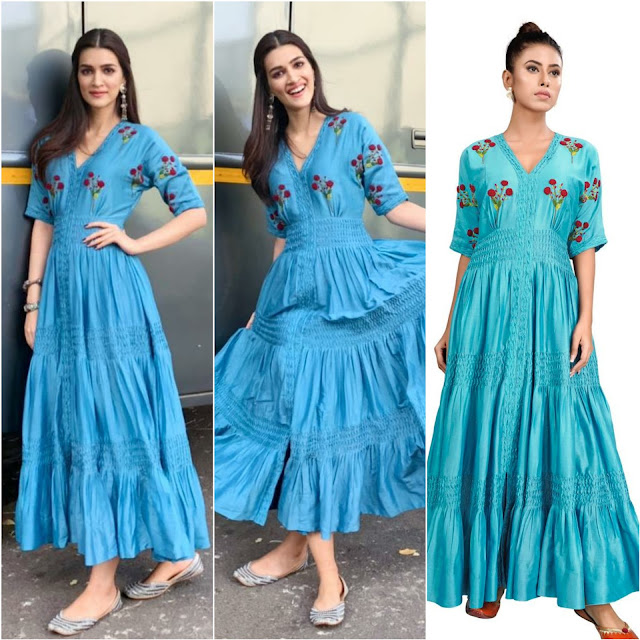 Kriti Sanon Wearing a Blue Dress by The Right Cut