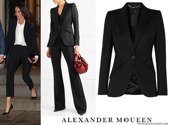 Meghan Markle wore ALEXANDER MC QUEEN blazer